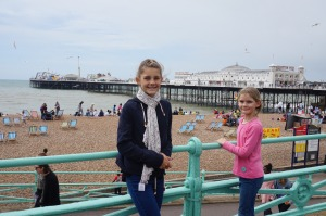 Brighton pier in the back